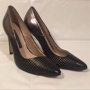 Black + pewter pumps   French Connection Maya 2